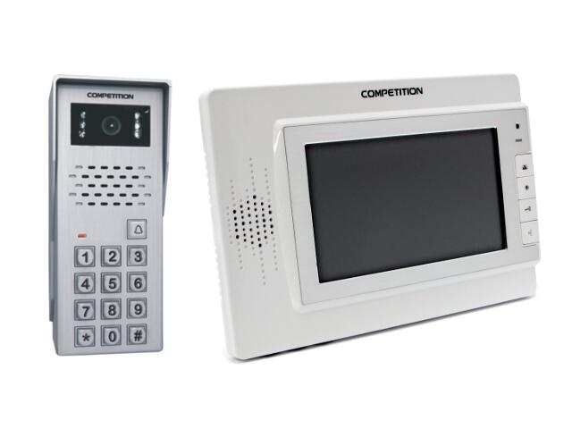 Videodomofon kolorowy 7'' LCD głośnom. + zamek szyfrowy MT320C-CK2W+SAC50C-CK Competition