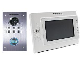 Videodomofon kolorowy 7'' LCD głośnomówiący MT320C-CK2-W+SAC551C-CK Competition