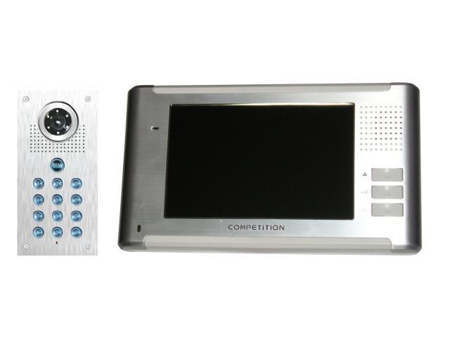 Videodomofon kolorowy 7'' LCD głośnom. panoram. + zamek szyfr. MT337C-CK2+SAC561C-CK Competition