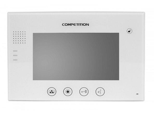 """Monitor do videodomofonu głośnomówiący 7"""" LCD MT670C-CK2W Competition"""