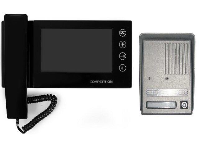 "Videodomofon kolorowy 7"" LCD głośnomówiący MT270C-CK2+SAC25C-CK Competition"