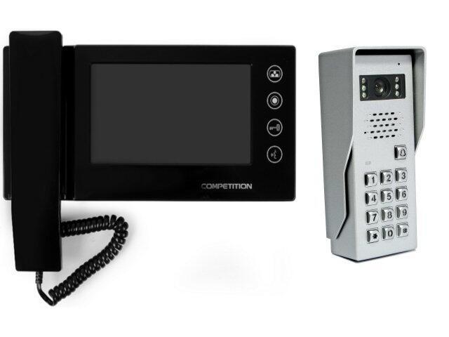 "Videodomofon kolorowy 7"" LCD głośnom. + zamek szyfr. MT270C-CK2+SAC50C-CK Competition"