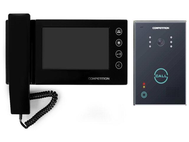 "Videodomofon kolorowy 7"" LCD głośnomówiący MT270C-CK2+SAC651C-CK Competition"
