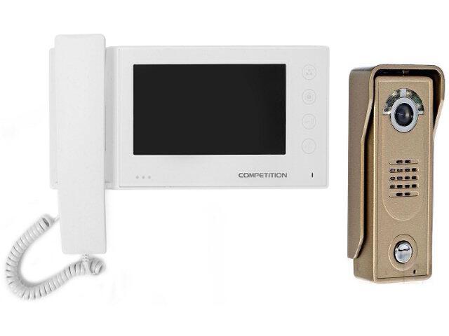 """Videodomofon kolorowy 7"""" LCD głośnom z pamięcią na 100 zdjęć MT270C-CK2S1W+SAC5C-CK Competition"""