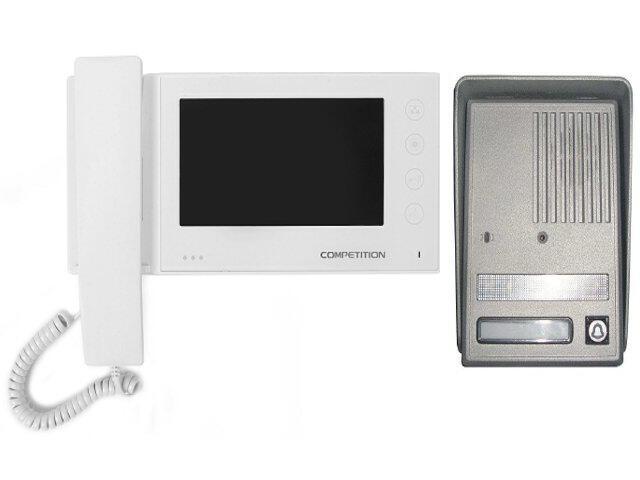 """Videodomofon kolorowy 7"""" LCD głośnom z pamięcią na 100 zdjęć MT270C-CK2S1W+SAC25C-CK Competition"""