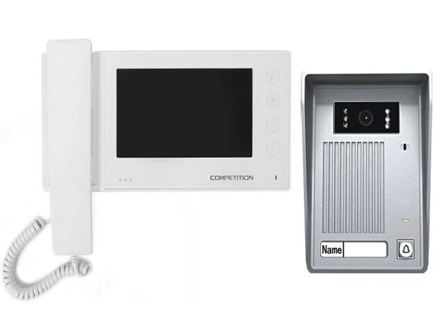 """Videodomofon kolorowy 7"""" LCD głośnom z pamięcią na 100 zdjęć MT270C-CK2S1W+SAC35C-CK Competition"""