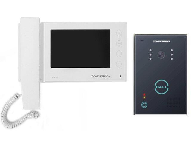 """Videodomofon kolorowy 7"""" LCD z pamięcią na 100 zdjęć MT270C-CK2S1W+SAC651C-CK Competition"""