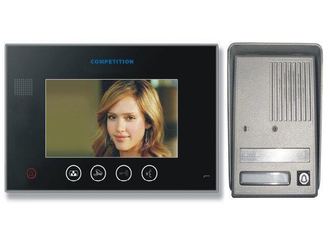 "Videodomofon kolorowy 7"" LCD głośnomówiący MT670C-CK2B+SAC25C-CK Competition"