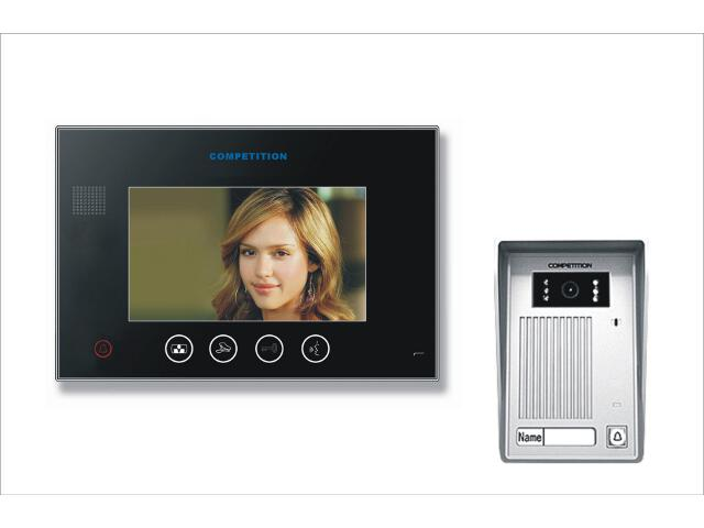 "Videodomofon kolorowy 7"" LCD głośnomówiący MT670C-CK2B+SAC35C-CK Competition"