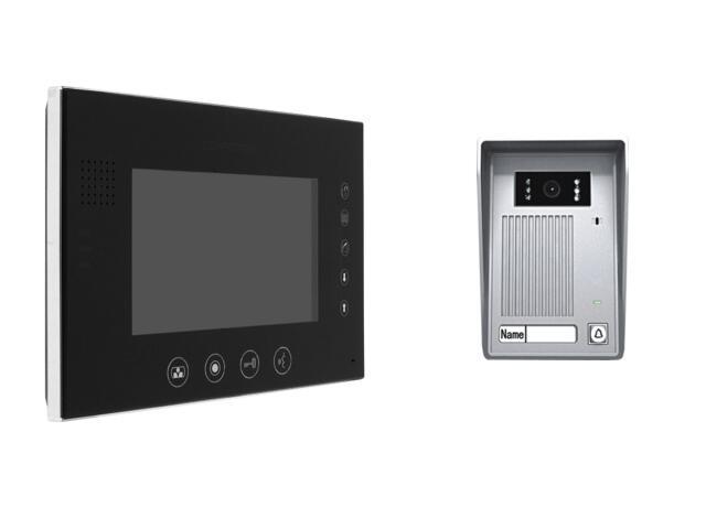 """Videodomofon kolorowy 7"""" LCD głośnom z pamięcią na 100 zdjęć MT670C-CK2S1B+SAC25C-CK Competition"""