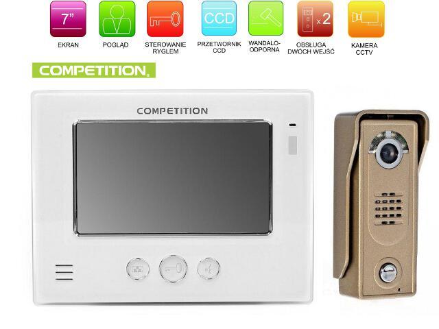 "Videodomofon kolorowy 7"" LCD głośnomówiący MT810C-CK2+SAC5C-CK Competition"