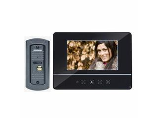 "Videodomofon kolorowy LCD 7"" z kamerą typu pin hole, czarny OR-VID-YT-1007/B Orno"
