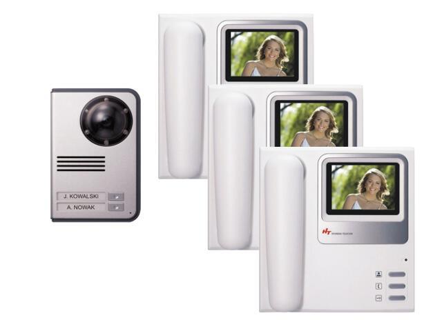 Videodomofon trzyrodzinny kolorowy HAC-300x3/HCC-703 Hyundai