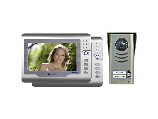 """Videodomofon 2-rodzinny kolorowy LCD 7"""" z ekranem dotykowym, OR-VID-VT-2001 Orno"""