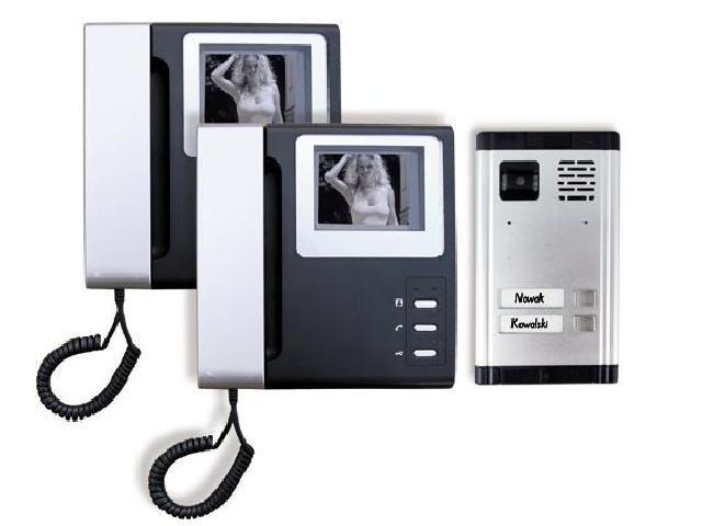 Videodomofon 2-rodzinny czarno-biały 2SD-280D4-2 Eura-Tech