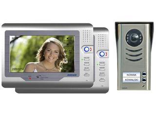 """Videodomofon 2-rodzinny kolorowy LCD 7"""" z modułem pamięci OR-VID-VT-2002 Orno"""