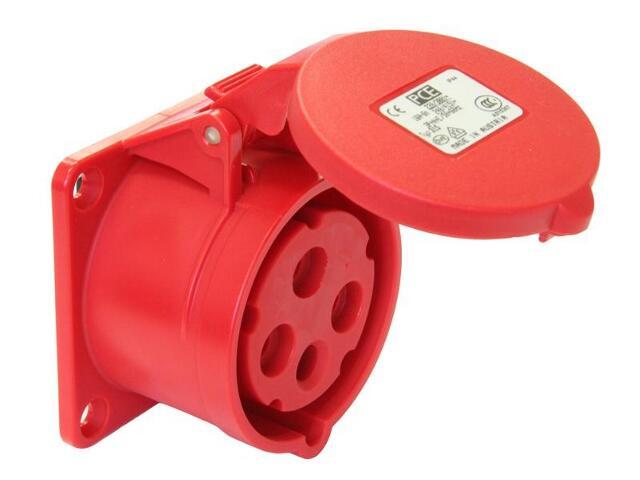 Gniazdo tablicowe proste Twist IP44 16A 400V 3P+Z 75x75mm PCE