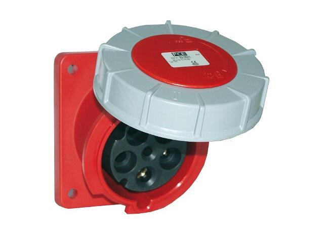 Gniazdo tablicowe skośne IP67 125A 400V 3P+Z+N 120x130mm PCE