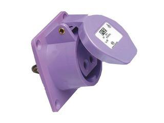 Gniazdo tablicowe proste 24V IP44 16A 24V/~50-60Hz 2P 70x70mm PCE