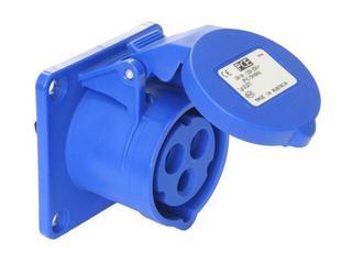 Gniazdo tablicowe proste Twist IP44 16A 230V 2P+Z 75x75mm PCE