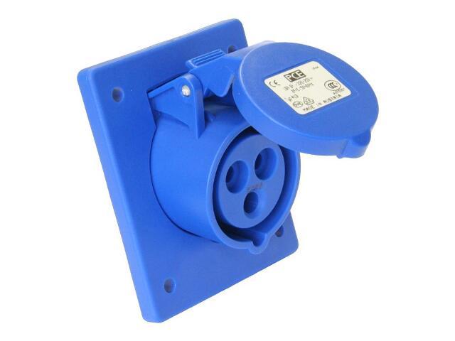 Gniazdo tablicowe skośne IP44 16A 230V 2P+Z 70x85mm PCE