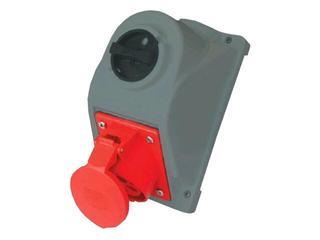 Gniazdo siłowe z wyłącznikiem seria COMBO-POL 16A 400V 3P+Z+N wył. L-O-P PCE