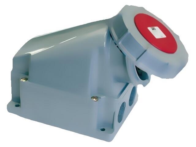 Gniazdo siłowe zasilające stałe IP67 bez dławika 63A 400V 3P+N+Z PCE