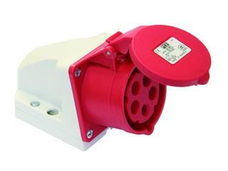 Gniazdo siłowe zasilające stałe IP44 16A 400V 3P+Z+N mała obudowa PCE