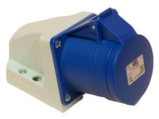 Gniazdo siłowe zasilające stałe IP44 32A 230V 2P+Z mała obudowa PCE