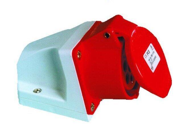 Gniazdo siłowe zasilające stałe IP44 32A 400V 3P+Z mała obudowa PCE
