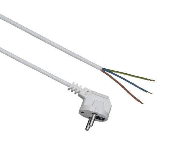 Przewód przyłączeniowy z zalewaną wtyczką OMY 3x1 3m biała Elgotech