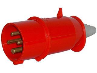 Wtyczka siłowa odbiornikowa izolacyjna przenośna 16A/400V 3P+Z Tarel