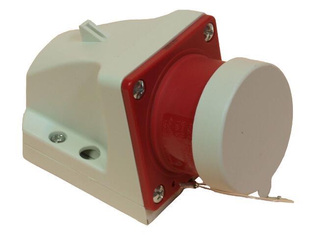 Wtyczka siłowa odbiornikowa z klapką 32A 400V 3P+Z PCE