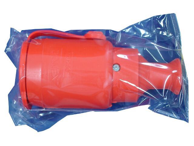 Gniazdo przenośne gumowe IP44 poj. b/u z klapką GN-H1 pomarańczowy Abex