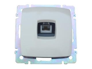 Gniazdo modułowe SUNO telefoniczne pojedyncze 1xRJ11 774038 biały Legrand