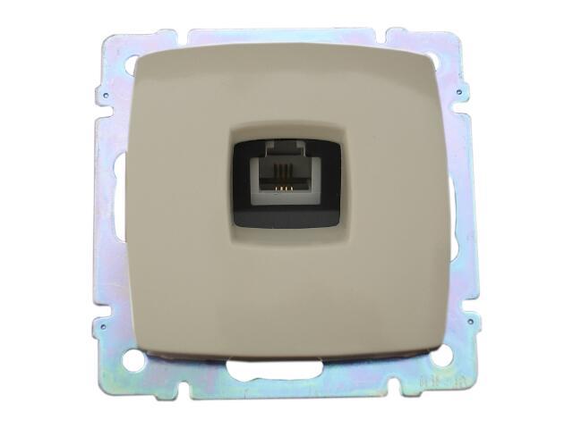 Gniazdo modułowe SUNO telefoniczne pojedyncze 1xRJ11 774638 krem Legrand