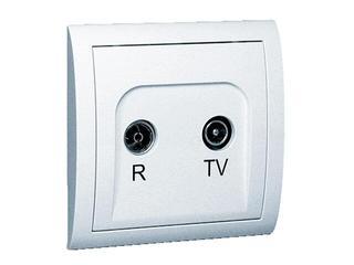 Gniazdo ścienne Classic anten. RTV przelotowe MA16/11 biały Kontakt Simon