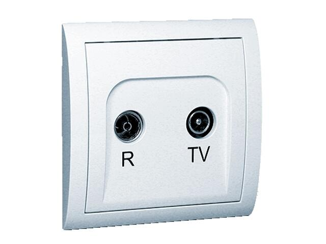 Gniazdo ścienne Classic anten. RTV przelotowe MA20/11 biały Kontakt Simon