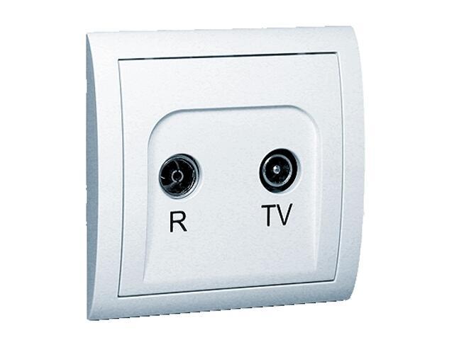 Gniazdo ścienne Classic anten. RTV przelotowe MA23/11 biały Kontakt Simon