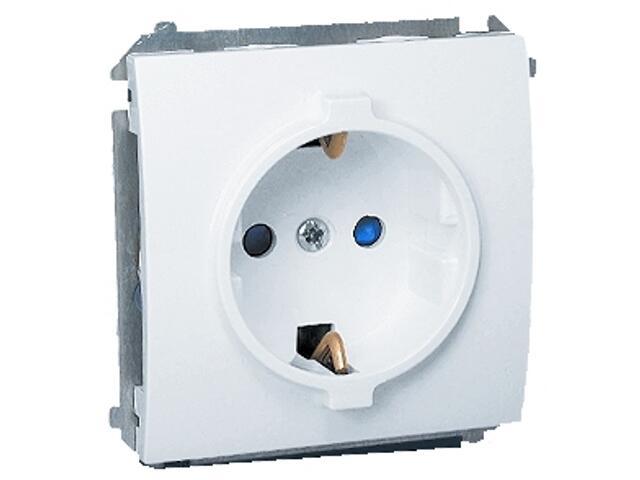 Gniazdo ścienne modułowe Classic z/u Schuko MGSZ1.01/11 biały Kontakt Simon