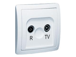Gniazdo ścienne Basic anten. RTV przelotowe BA23/11 biały Kontakt Simon