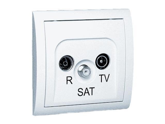 Gniazdo ścienne Classic anten. RTV-SAT końcowe MAS/11 biały Kontakt Simon
