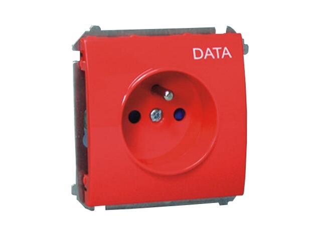 Gniazdo ścienne modułowe Classic Data z/u z piktogramem MGZD.01/22 czerwony Kontakt Simon
