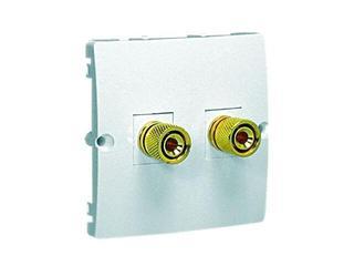 Gniazdo głośnikowe modułowe Classic uniwersalne (moduł) MGL2.02/11 biały Kontakt Simon