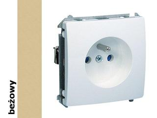Gniazdo ścienne modułowe Basic z/u z przesłonami BMGZ1z.01/12 beżowy Kontakt Simon