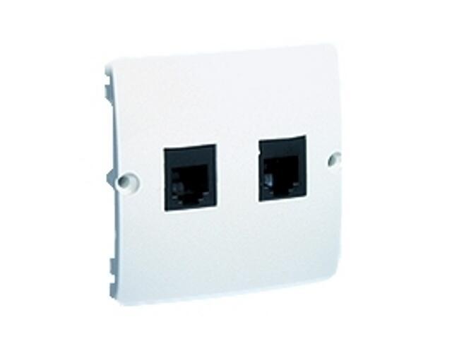 Gniazdo modułowe Basic telef. RJ11 podwójne BMTF2.02/11 biały Kontakt Simon