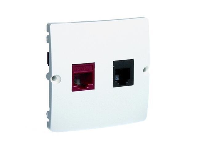 Gniazdo modułowe Basic komputerowe RJ45+telef. RJ11 BMF5T.02/11 biały Kontakt Simon
