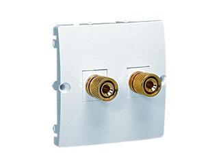 Gniazdo głośnikowe modułowe Basic (moduł) BMGL2.02/11 biały Kontakt Simon