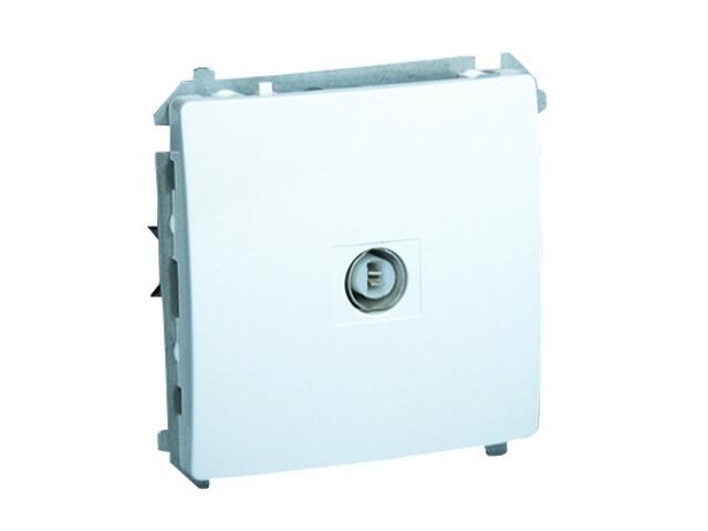 Gniazdo modułowe Basic anten. pojedyncze BMAK1.01/11 biały Kontakt Simon