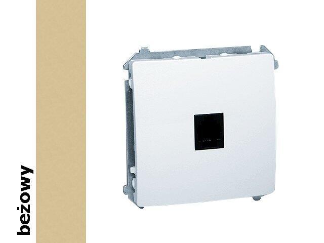 Gniazdo modułowe Basic telef. RJ12 z ochronnikiem BMTO.01/12 beżowy Kontakt Simon